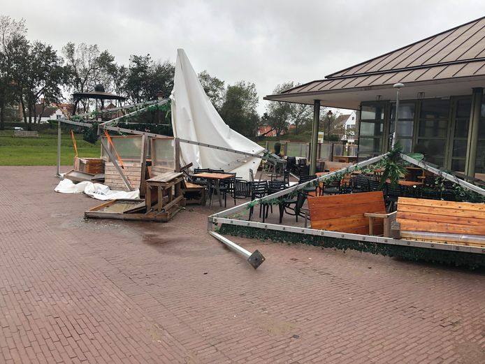 Veel schade in Park Potinière in De Haan