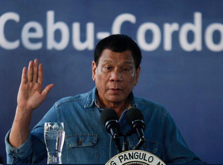 De Filipijnse president Rodrigo Duterte. Beeld null