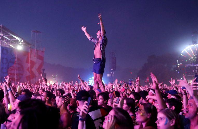 Festivalpubliek op Sziget in Boedapest. Beeld Reuters