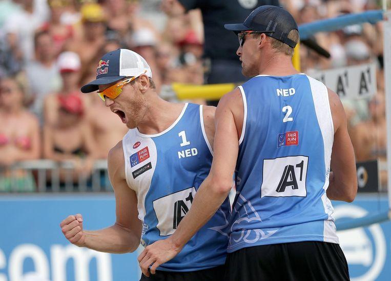 Alexander Brouwer (links) en Robert Meeuwsen. Beeld epa