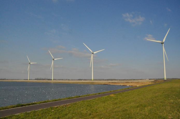 Een windpark op Goeree-Overflakkee.