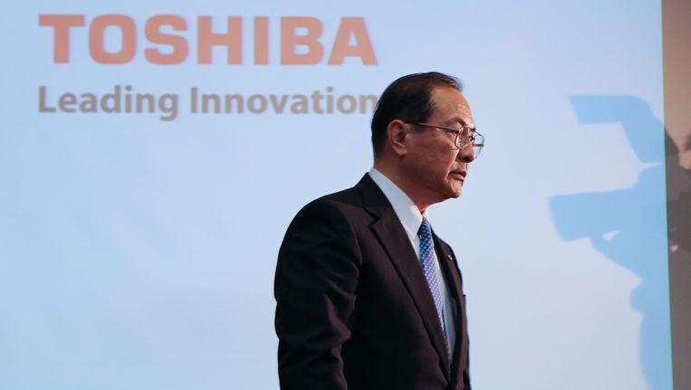 De CEO van Toshiba, Masashi Muromachi. Beeld EPA
