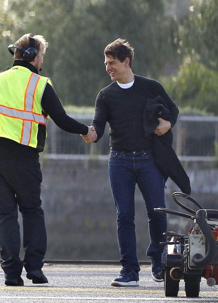 Tom Cruise arriveert in Londen