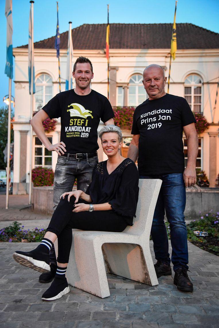 Stef, Charline en Jan doen mee om de titel van prins carnaval in de wacht te slepen.