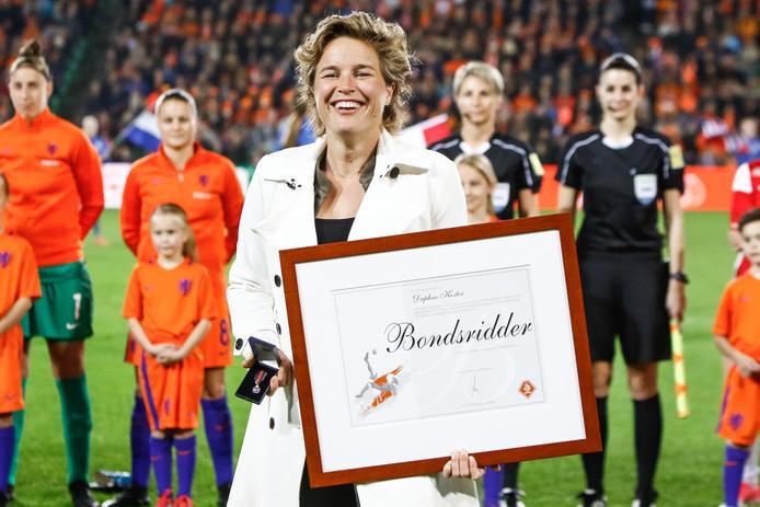 Daphne Koster neemt afscheid van het Nederlands team.