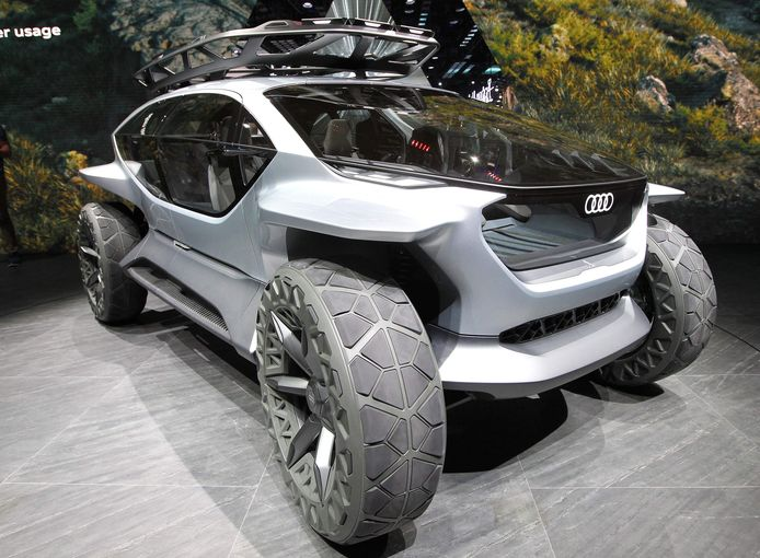De Audi AI:Trail is het concept van een zelfrijdend terreinvoertuig