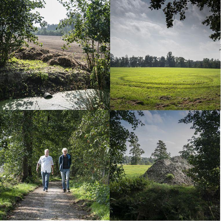 Berry Overbeek en Jan Dirk de Boer van het  Actiecomité Behoud Coulisselandschap. Beeld Reyer Boxem
