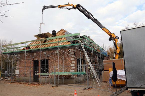 De watermolen wordt momenteel gerestaureerd. Deze foto dateert van eind november.