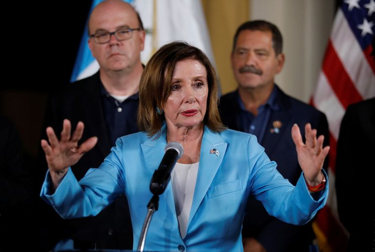 Voorzitter van het Amerikaanse Huis van Afgevaardigden Nancy Pelosi.  Beeld REUTERS
