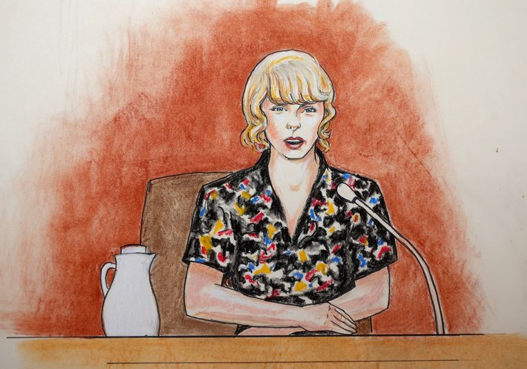 Taylor Swift spreekt in de rechtbank