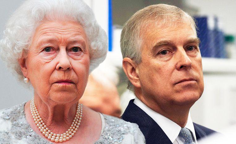 Koningin Elizabeth en prins Andrew