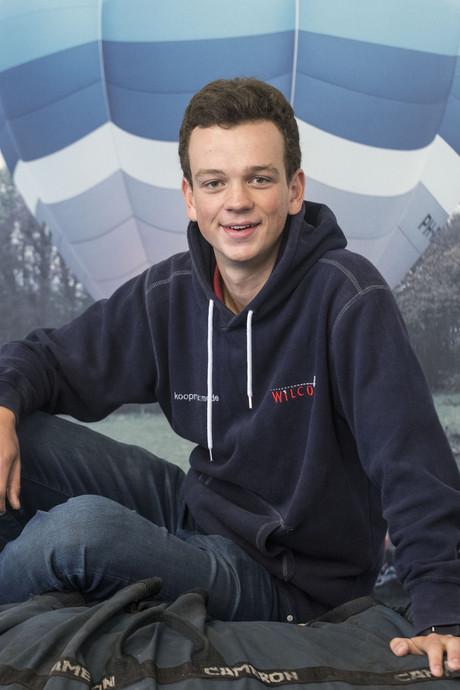 Martijn (16) uit Ootmarsum is jongste ballonvaarder van Nederland