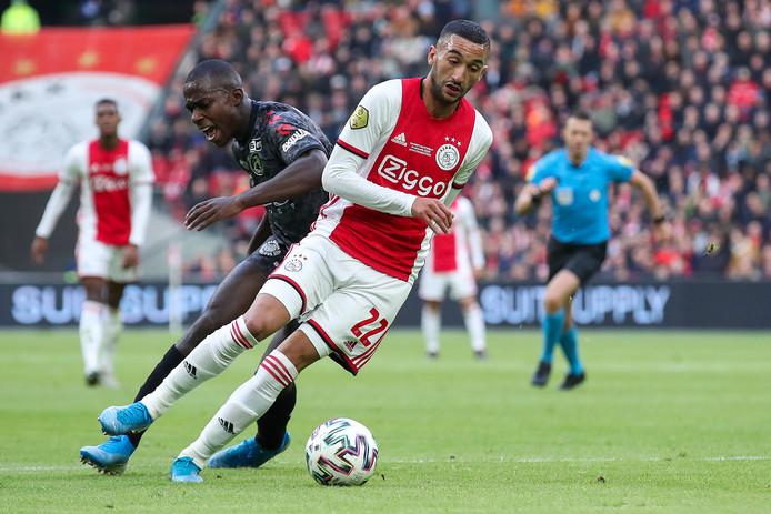 Sterspeler Hakim Ziyech van Ajax tegen Sparta Rotterdam op 19 januari.