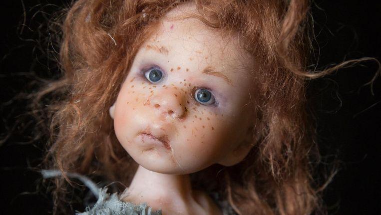 Pop Josje, gemaakt door Nel Groothedde. Alle afgebeelde poppen waren vorig weekend te zien op de Art Dolls Expo in Noord. Beeld Dingena Mol