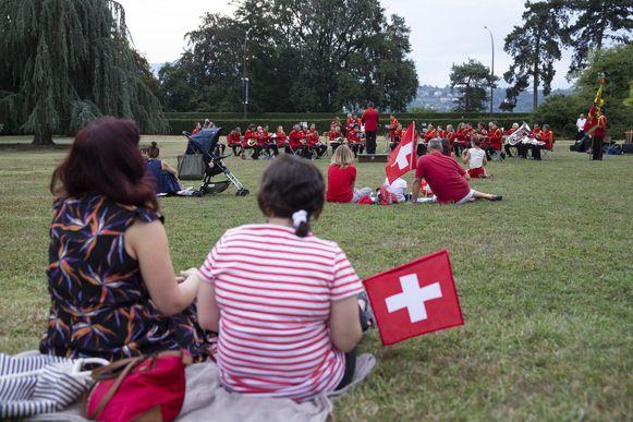 De Zwitsers vierden zaterdag hun nationale feestdag, ook in Genève.