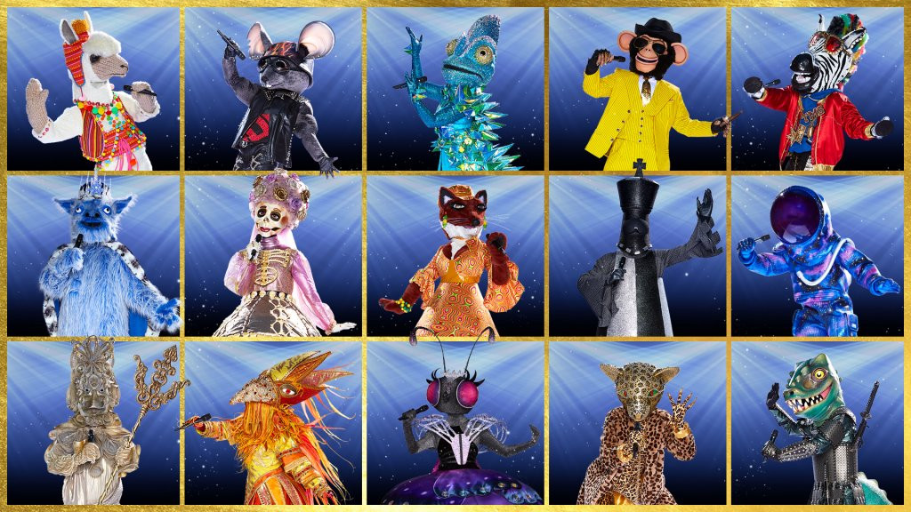 Alle deelnemers van The Masked Singer 2020.