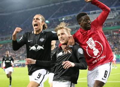 RB Leipzig staat bekerstunt HSV in de weg en staat voor het eerst in finale