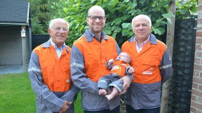 """Mannelijk viergeslacht Bollaert heist zich in bedrijfskledij Arcelor Mittal: """"Familie werkt al drie generaties voor het bedrijf"""""""