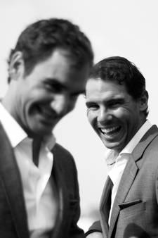 Eindelijk kan Roger juichen voor de 'wicked forehand' van Rafa
