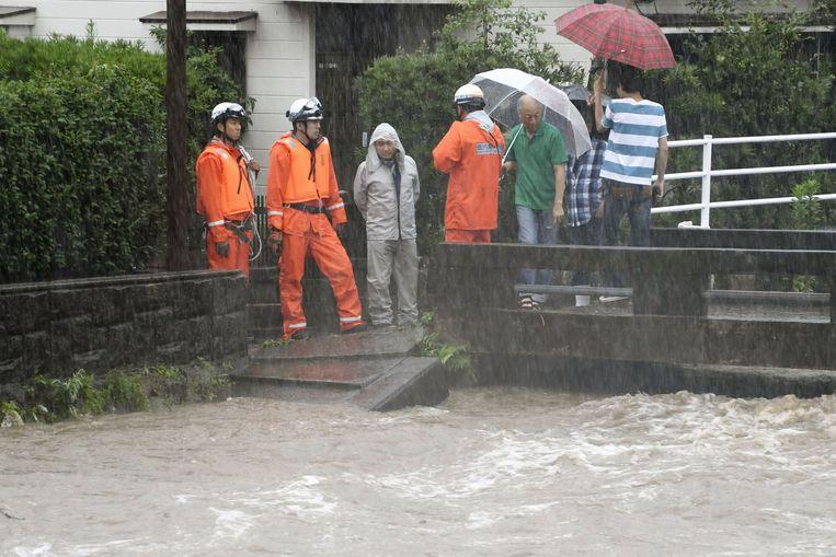 Archiefbeeld, hevige regen op het eiland Kyushu.