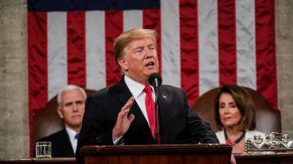 """Trump roept op tot eenheid in State of the Union, maar: """"Ik zal zorgen dat de muur gebouwd wordt!"""""""
