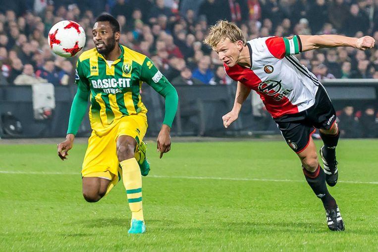 Dirk Kuyt maakte drie doelpunten. Beeld anp