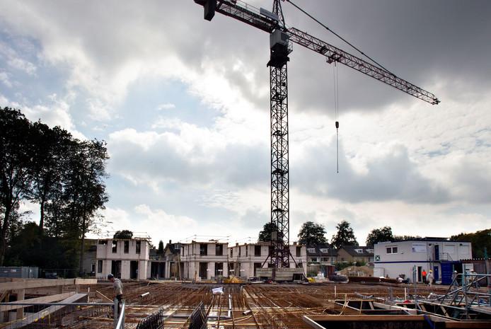 Nieuwbouwplan Hoogh Waalre, waar de afgelopen jaren volop is gebouwd.
