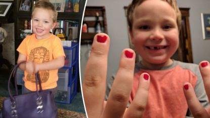 """Vader verdedigt zoon (5) die gepest wordt omdat hij met gelakte nagels naar school gaat: """"Sam vindt dat mooi. Hij heeft gelijk"""""""