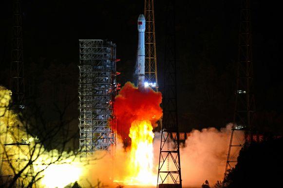 De lancering van maansonde Chang'e 4.