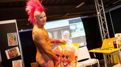 """Antwerpse eroticabeurs verwelkomt excentrieke Australische kunstenaar: """"Mijn penis is mijn penseel"""""""