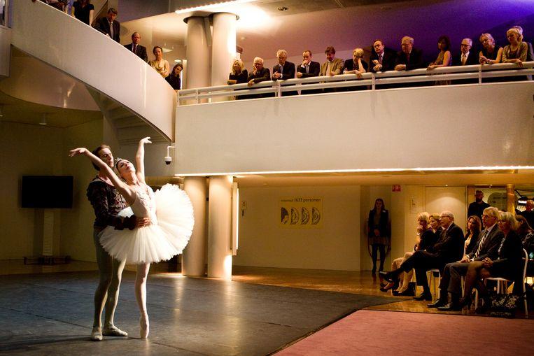 Fondsenwervingsdiner voor het Nationaal Ballet in Amsterdam.  Beeld Io Cooman