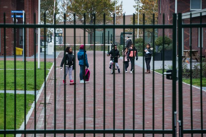 Foto ter illustratie. Het asielzoekerscentrum in Ter Apel.