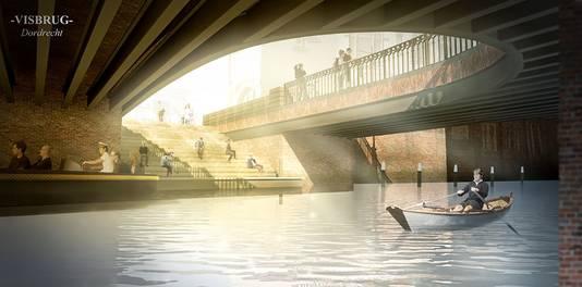 In de eerdere plannen zou een gat worden gemaakt in de Visbrug. Na veel protest is dat plan van tafel.