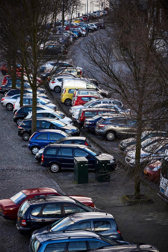 Geparkeerde auto's op het Noordereiland.