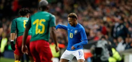Fluitconcertje voor Neymar na vroege aftocht in oefenduel met Kameroen
