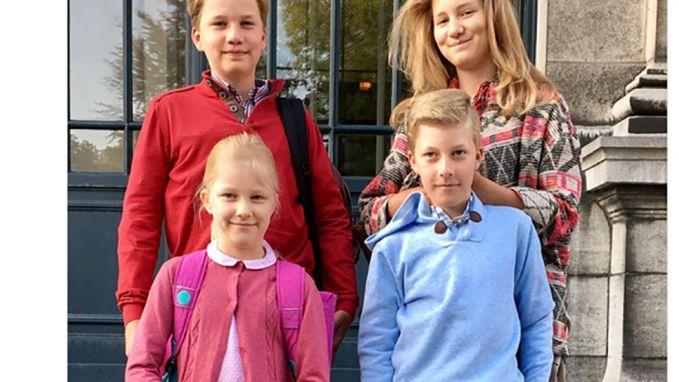 Ook prinses Elisabeth en haar broers en zus weer naar school