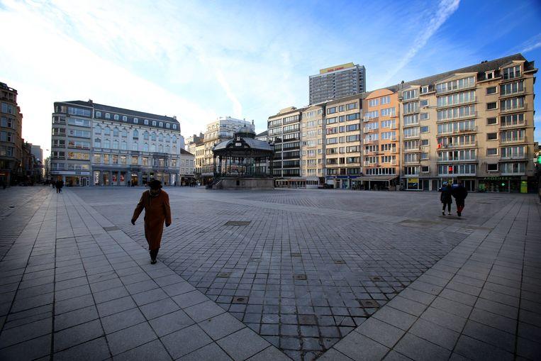 Het Wapenplein in Oostende.