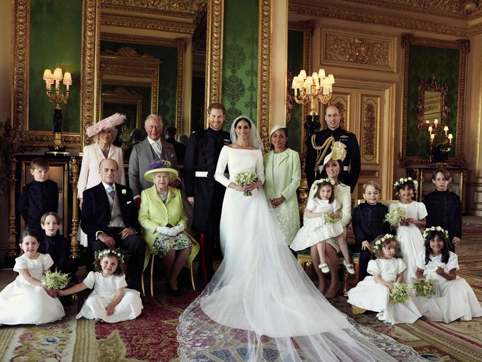 Photo de famille pour le mariage du prince Harry.