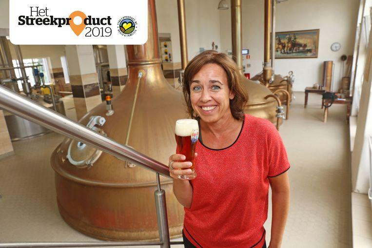 Meester-brouwer Ellen Mertens van Brouwerij Affligem.