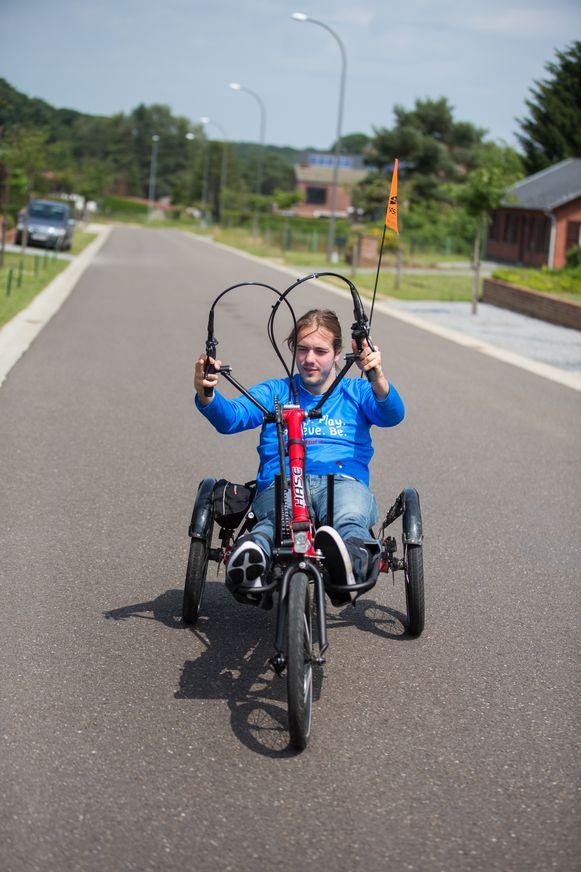 Maarten Keusters gaat met een ligfiets de Ventoux beklimmen