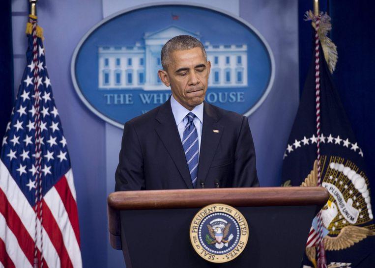 'Diplomaten en analisten in Azië hebben zich verbaasd over het onvermogen van de Obama-regering een sterke reactie op China's uitdaging te formuleren.' Beeld afp
