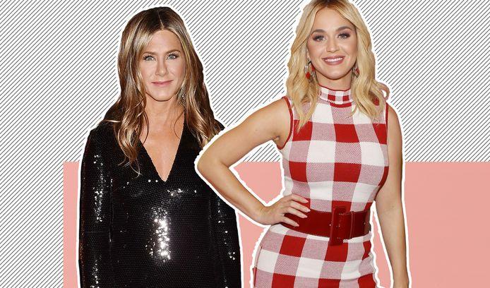 Jennifer Aniston en Katy Perry.
