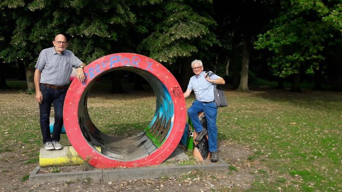 Frans Gabriels en Adrie Kersten van Kunst in Park.