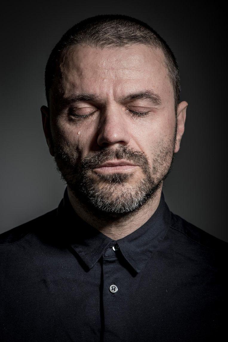 Het portret van Tom Van Landuyt, waarmee Clicteur een prijs won in China.