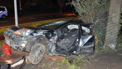 Bestuurder gewond na zware crash