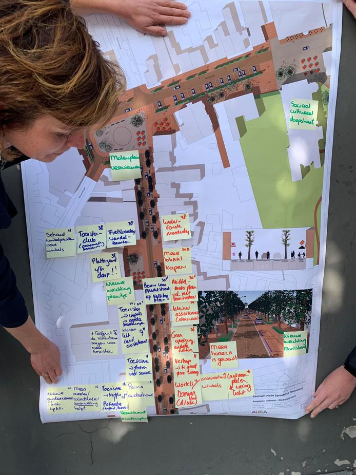 Wethouder Lieke Schuitmaker (VVD) Drimmelen presenteert brainstorm centrum Made - geëmbed van BNDeStem