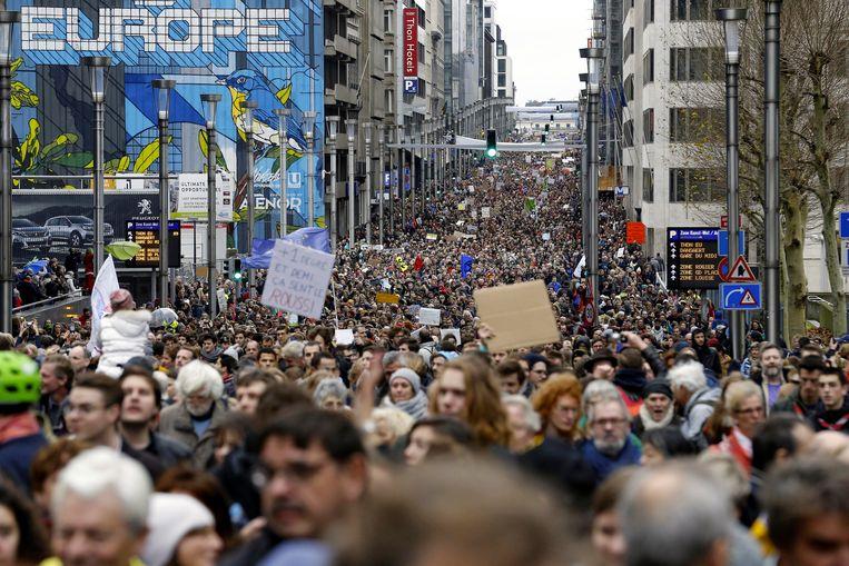 De 'Claim The Climate'-manifestatie op 2 december in Brussel trok 65.000 deelnemers.