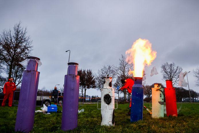 Op meerdere plekken op de Veluwe werd met carbid geschoten. Foto ter illustratie