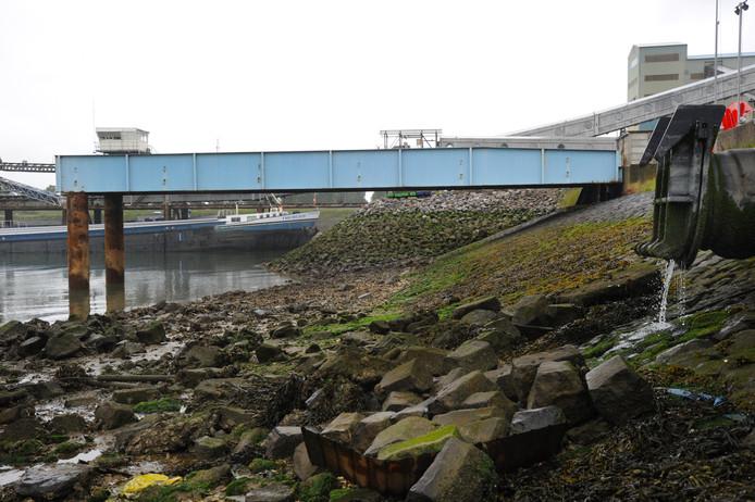 Een deel van de blauwe brug is direct na vertrek uit het Dok naar de Buitenhaven verhuisd als overkluizing van de vestiging van DOC naar een ponton.
