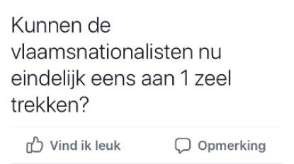 """Schepen Van Steenberge (N-VA) doet het opnieuw: """"Kunnen Vlaams-nationalisten eens aan één zeel trekken?"""""""